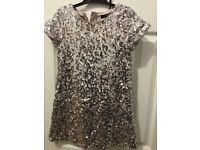 Autograph beautiful sequinned dress age 7-8