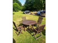 Garden Table and 4 Chairs