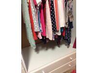 Child's white Tallboy wardrobe wide with drawers- repair