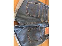 """Levi Denim Shorts - 32"""" waist"""
