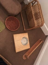 Towel rail, scales, mag rack, bowl