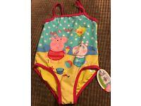 Peppa Pig Girls Swimming Costume Age 3-4 Brand New