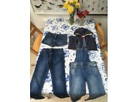 Lovely Mini Boden & Gap Girls Collection - Denin & Hoodie Bundle - Aged 8