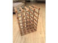 Wooden and metal win rack