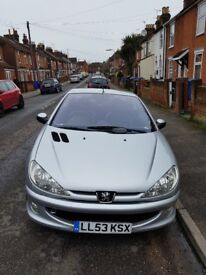 Convertible Peugeot 206 1.6cc Coupe great Condition