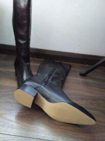 Ladies new black leather boots