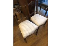 Edwardian side chairs , good quality and condition .