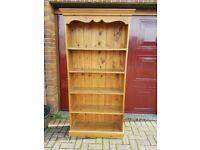 Solid Wood hand made Tall bookcase