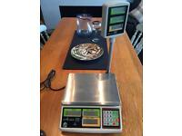 Retail flat bed scales. Butcher, deli, sweets