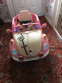 Girls electric vw car