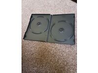 Box of 25 DOUBLE x 14mm thick DVD Cases