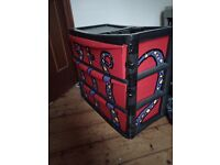 Plastic set of 3 drawers, custom octopus spray paint