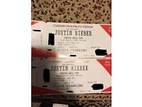 Justin Bieber tickets! Standing. £220 for two.