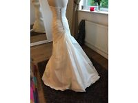 Wedding dress designer BLU size 10-12