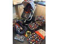 Cosatto Giggle 2 💛 Travel System ❤️ Pram - Pushchair - Car Seat FABLE DESIGN 💙