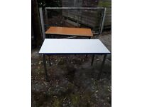 Job lot of 26 Primary School tables - assorted finishes