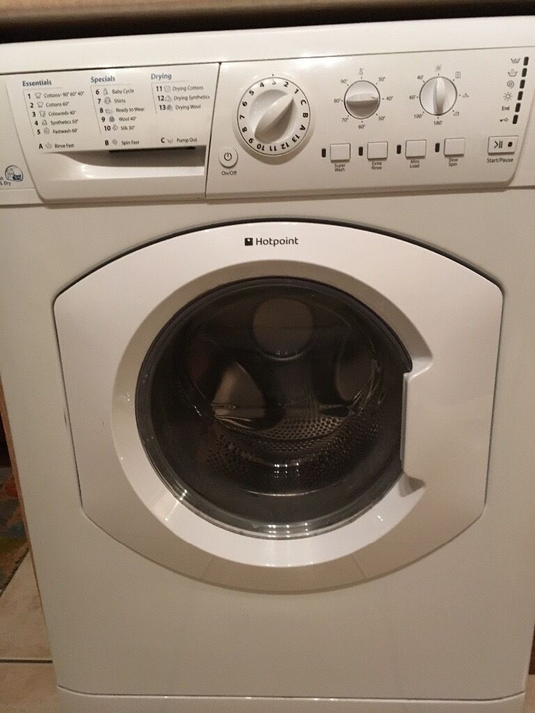 Hotpoint Aquarius Washer Dryer white WDL520P with instructions for use