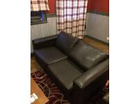 Brown Leather sofas- 2 seaters