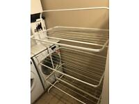 Laundry airer ikea holds 4 loads plus towels duvets