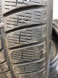 235/55/19.   255/50/19  Pirelli scorpion winter.   6-7/32.  N O