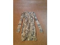 Topshop animal print dress. Size 8