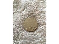 Rare 50p BEATRIX POTTER coin 2016