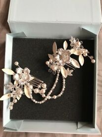 Arianna tiaras silver & pearl bridal comb
