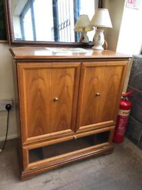 Wooden tv cabinet with draw