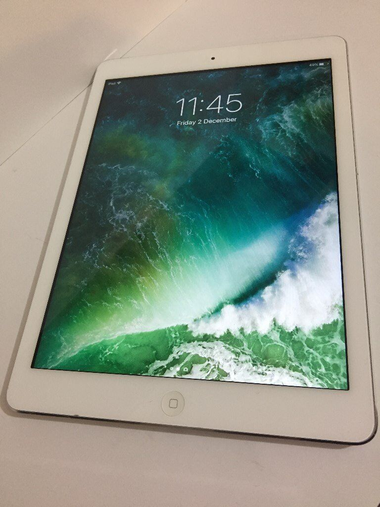 iPad Air 32GB WiFiin Ilford, LondonGumtree - Apple iPad Air 32GB WiFi white and Silver WiFi ONLY in mint condition FULL WORKING NO CHARGER AND NO BOX I AM SELLING ONLY iPAD Retina display white and Silver