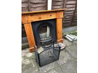 Cast iron fire place and surround , open for offers