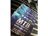 Muay thai boxing tickets x5