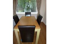 Dining Table with 4 Chairs - Excellent Condition