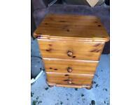 1 set of bedside drawers pine Hebburn can deliver