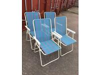 6x foldable garden chairs