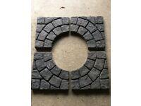 Stone circle slabs.