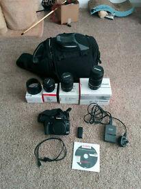 Canon 400d Camera - Multiple Lenes - Great DSLR Starter kit