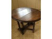 'Bevan Funnell Reprodux' Oak Gate Leg, Coffee, Phone, Occasional Table