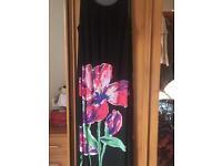 Black maxi dress (Evans)