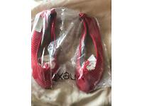 Red next dolly shoes new size 6