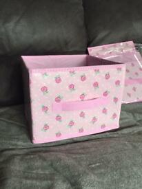New Pink Flower Storage Boxes