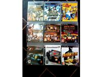 9 PS3 GAMES ALL IN VERY GOOD CONDITION