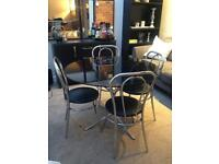 1950's American dining table and chair set