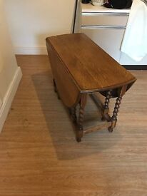 A lovely drop leaf table restored by a proffesional french polisher. Would grace any room home