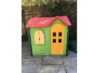 Little Tikes Country Cottage Evergreen outdoor playhouse in excellent condition