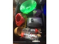 Dwarf hamster home and accessories