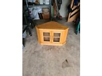Corner TV Unit Solid Oak