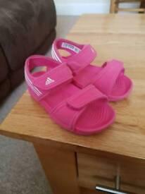 Girls Adidas sandals size 6