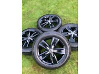 "17"" 18"" VW Transporter T6 T5 T32 Alloy Wheels Tyres Highline Sportline"