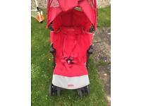 McLaren XT Techno Pushchair, Flight Bag, luggage tags, parasol, head hugger and more....