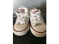 White size 5 infant converse